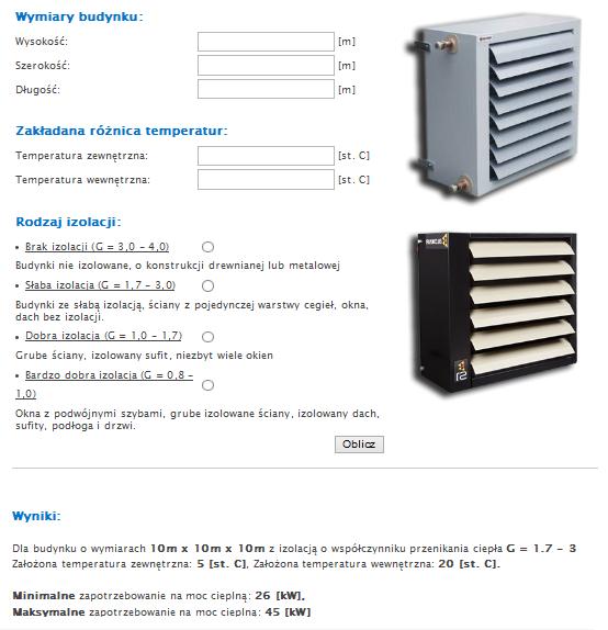 Zapotrzebowanie budynku na moc cieplną - kalkualtro