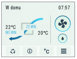 Panel My Vallox Control - widok ekranu